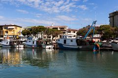 Port of Caorle in Italy Stock Image