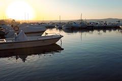 Port Capodimonte przy zmierzchem obrazy royalty free