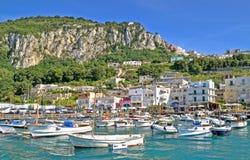 Port of Capri. View on the port of island Capri,Italy royalty free stock image