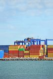 Port cargo crane and container Stock Images