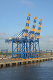 Port cargo crane Stock Photos