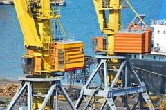 Port cargo crane Stock Photos