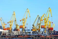 Port cargo crane Royalty Free Stock Photo
