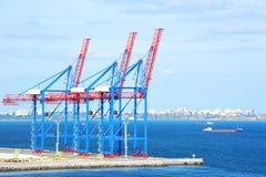 Port cargo crane Royalty Free Stock Photos