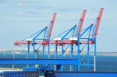 Port cargo crane Royalty Free Stock Image