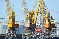 Port cargo crane Stock Images