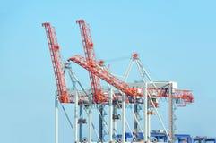 Port cargo crane Stock Photo