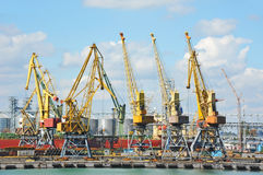 Port cargo crane Royalty Free Stock Photography
