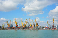 Port cargo crane Royalty Free Stock Images