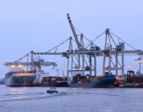 Port for cargo ships Royalty Free Stock Image