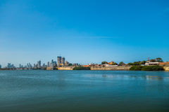 Port in Cartagena, Colombia royalty free stock photography
