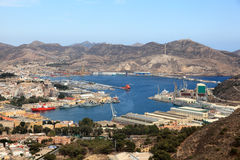 Port of Cartagena, region Murcia, Spain Stock Images