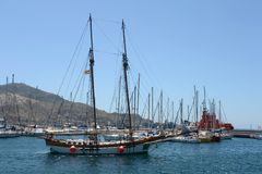 The Port Of Cartagena, Spain Royalty Free Stock Photos