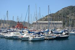 The Port Of Cartagena, Spain Stock Images