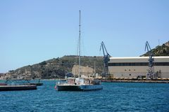 The Port Of Cartagena, Spain Royalty Free Stock Photography