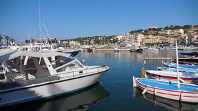Port of Cassis stock footage