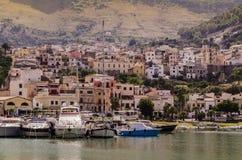 Port Castellammare Del Golfo na sicilian wyspie zdjęcia stock