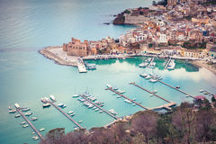 Port of Castellammare del Golfo town Royalty Free Stock Image
