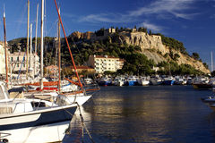 Port and castle of Cassis Stock Images