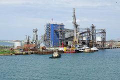 THE PORT OF CAUCASUS, RUSSIA - JUNE 01. 2014: Servopohony terminal in the port Stock Images