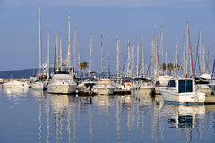Port of Cavalaire-sur-Mer in France Stock Image