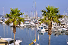 Port of Cavalaire-sur-Mer in France Royalty Free Stock Photo