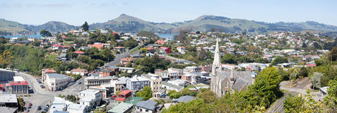 Port Chalmers Panorama Royalty Free Stock Photo