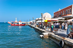 The port of Chania Stock Photography