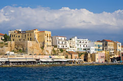 Port of Chania, Crete Stock Image