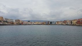 Port of Chania. Habor of Chania with old Lighttower Stock Image
