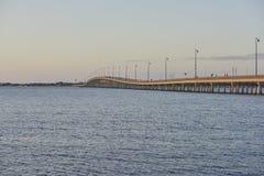Port Charlotte bridge. Charlotte, Florida bridge and harbor Stock Photo