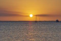 Port charlotte bridge. Port Charlotte - Punta Gorda, Florida sunset Royalty Free Stock Photo
