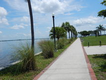 Port Charlotte Harbor. A view from the walk way in Punta Gorda Florida Royalty Free Stock Images