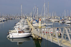 Port of Cherbourg in France Royalty Free Stock Photos