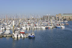 Port of Cherbourg in France Stock Image