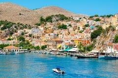 Port chez Symi La Grèce Photos stock
