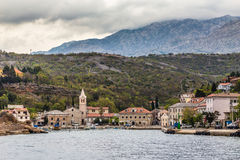 Port And Church In Jablanac Village, Croatia Royalty Free Stock Photography