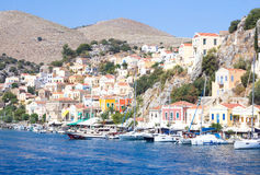 Port city in the Aegean Sea. Greece Stock Photos