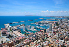 Port in city of Alicante, Spain Stock Photo