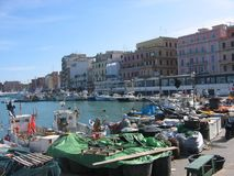 Port of the city of Anzio in Italy royalty free stock photos