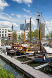 Port in the City Centre of Rotterdam Stock Photo