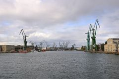 The Port of the City Gdansk, Poland royalty free stock photography