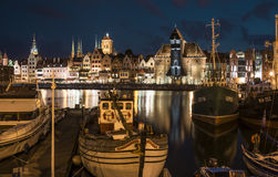 Port and city gdansk poland europe Royalty Free Stock Images