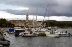Port of city Krk,Croatia Stock Photos