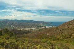 Port City. landscape. Port City. Sea and sky in Costa brava. Spain Royalty Free Stock Image
