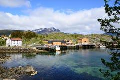 Port city on Lofoten Islands in Norway Stock Image