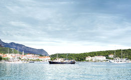 Port in the city of Makarska, Croatia. Royalty Free Stock Photo