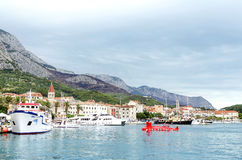Port in the city of Makarska, Croatia. Royalty Free Stock Photography