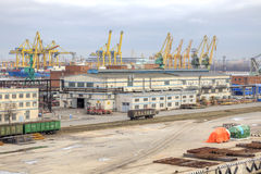 Port of city Saint Petersburg Royalty Free Stock Photo