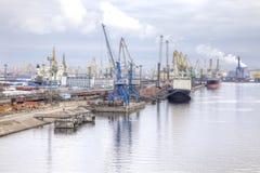 Port of city Saint Petersburg Royalty Free Stock Photography